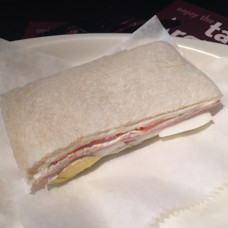 Ham, Cheese, Tomato and Egg Sandwich